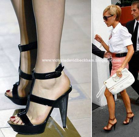 Victoria Beckham's fantasticlly vampy heels. Surely one afternoon shopping